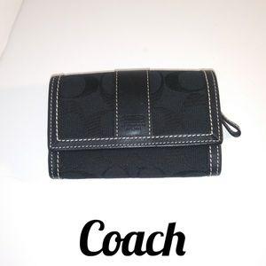 Coach Small Wallet Black 🌺 Beautiful